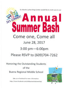 School's Out Summer Bash BBQ @ Martin Luther King Community Center | Buena Vista Township | New Jersey | United States